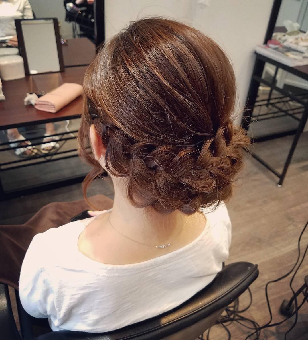 結婚式 和装 髪型 編み込み Khabarplanet Com