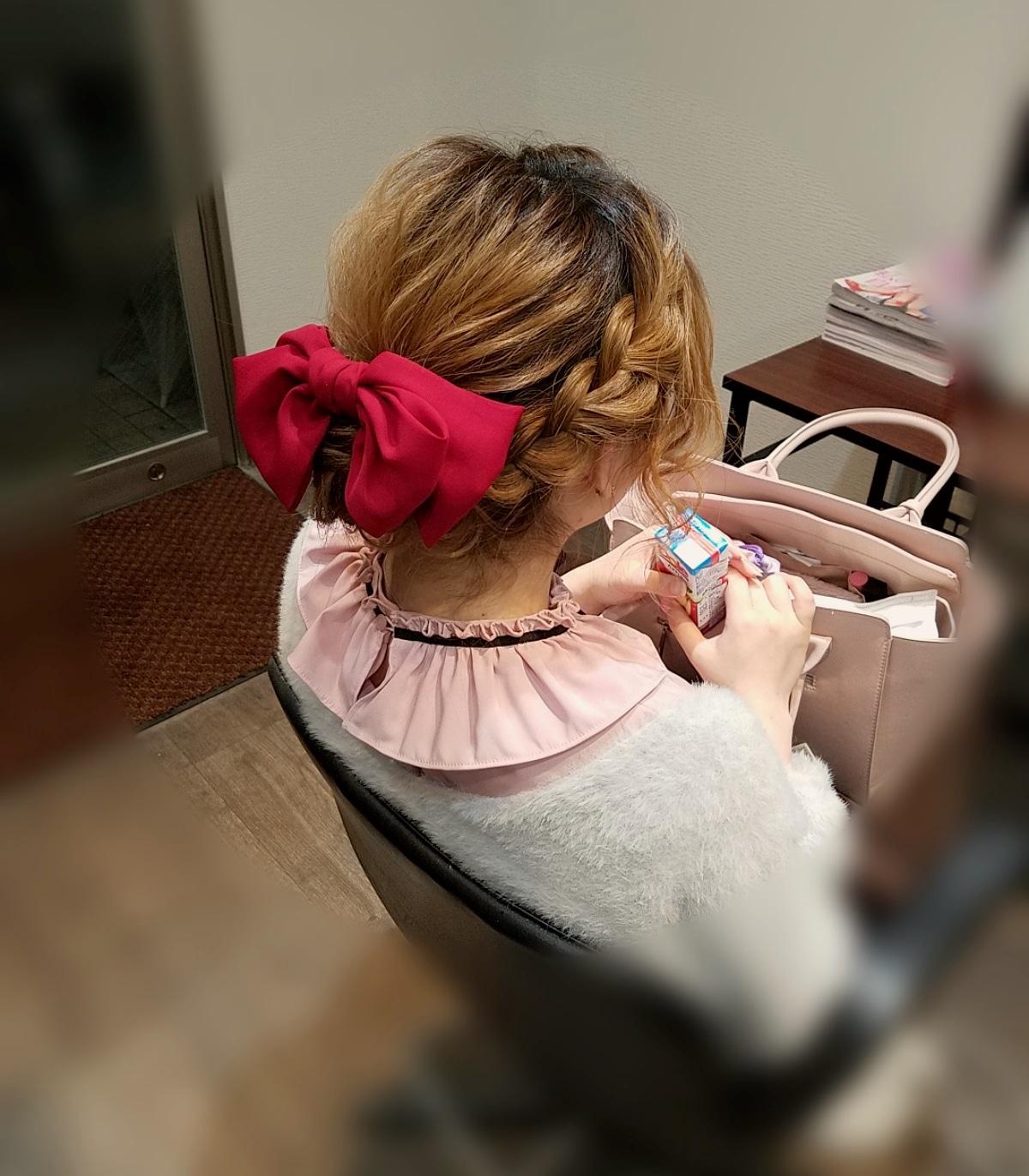 平原さんのヘアスタイル 『編み込み×🎀 * 宮崎市ヘア